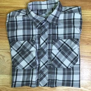 Under Armour button down shirt. Black and white.